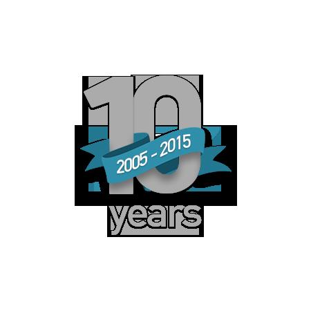 10 year emblem